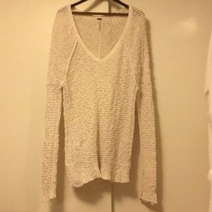 Free People long ivory sweater Medium